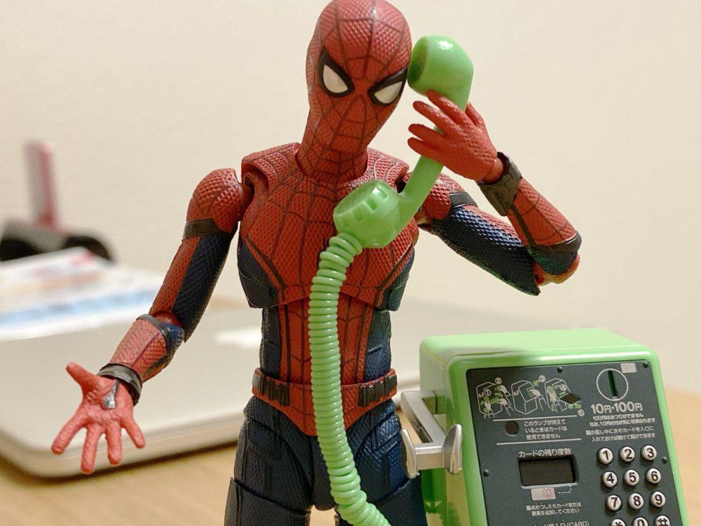 スパイダーマン 公衆電話